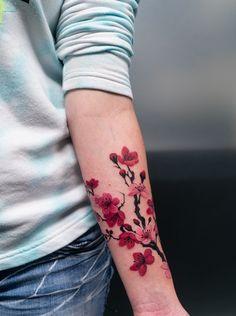 08b4cd32f Cherry Blossom Drawing, Cherry Blossom Tree, Blossom Trees, Traditional  Tattoo Work, Traditional