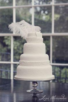 Great Gatsby Trend 2014 Wedding Cake  www.MadamPaloozaEmporium.com www.facebook.com/MadamPalooza