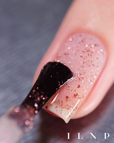 A beautifully elegant metallic sea-pink flakie topper. Seated in a clear base, Empress adds a glistening pop of rosy-tinged flakes to any base color you layer her over! White Nail Polish, Nail Polish Colors, Pink Polish, Holographic Nails, Nagel Gel, Stylish Nails, Blue Nails, Violet Nails, Nails Inspiration