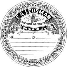Vintage Pharmacy Label - Round - The Graphics Fairy