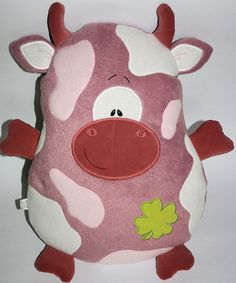 Cow pillow with free applique embroidery