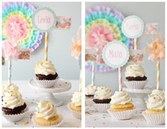 As we continue to build a party around our new ' over the rainbow ' collection, we thought we better incorporate cupcakes somehow! If your l...