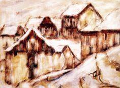 """1936 -Christian Rohlfs (1849-1938) was een Duitse schilder van het expressionisme. Ook van Rohlfs werden na de Ausstellung """"Entartete Kunst"""" van 1937 in München talrijke werken geconfisqueerd. Alleen al in het museum in Hagen ca. 450 werken. De kunstenaar kreeg een schilderverbod opgelegd en werd uit de Preußischen Akademie der Künste in Berlin gestoten. Rohlf stierf op 8 januari 1938. Zijn werk Letzte Chrysanthemen bleef onvoltooid"""