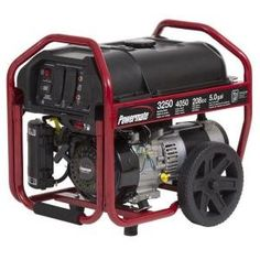 Powermate 3250-Watt Manual Start Portable Generator PM0123250 with Wheel Kit