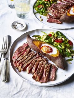 The team behind the Mindful Chef recipe box delivery service present their tasty, protein-packed recipe for sirloin steak paired with energising sweet potato and fresh, crunchy asparagus. Topped with a baked egg and balsamic glaze, this recipe is delicious, filling and healthy.