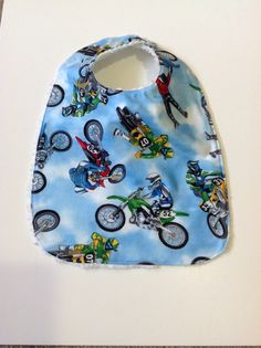 Dirt Bike Baby Bib by ANFDESIGNS on Etsy, $8.00