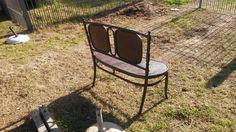 antiguo sillon de viena de dos cuerpos
