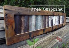 FREE SHIPPING  Rustic Coat Rack / Hat Rack by RusticRidgeWoodWrkin, $55.00