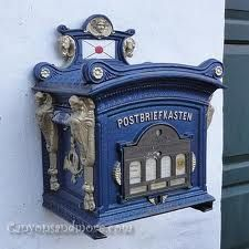 This mailbox is from Glucksburg Castle in Germany. Antique Mailbox, Vintage Mailbox, Cool Mailboxes, You've Got Mail, Germany Castles, Going Postal, Post Box, Mail Art, Poster
