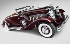 1935 Duesenberg Model J 530 2563 Convertible Coupe LaGrande luxury retro car Home Decoration Canvas Poster $11.98