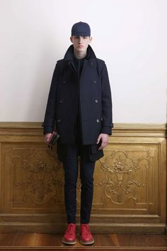 GIULIANO FUJIWARA, AW11: the proportions. the shoes. red, creeper-sole, high-top loafer-boots? my heart hurts.