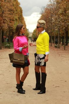#jumper # Célinebag #boots #couple #pink #yellow #fashion #mode #moda #women #Paris #streetstyle #streetview #street #style #offcatwalk on #sophiemhabille