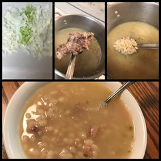 """Made with the hambone from new years dinner 😊 This is based on the """"Senate Bean Soup"""" that is served at McGuire's Irish Pub in Pensacola, FL. PS: My wife says mines better😎 Senate Bean Soup, Navy Bean Soup, New Years Dinner, Pensacola Fl, Stir Fry, Soups, Fries, Grilling, Roast"""