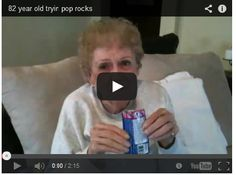 Grandma Tries Pop Rocks For The First Time