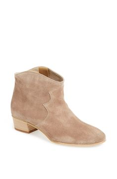 The color of these Jeffrey Campbell booties is great.