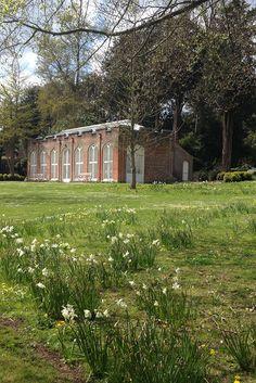 The Orangerie in spring at West Dean Gardens West Sussex. https://www.westdean.org.uk/gardens