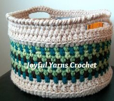 Magnificent Moss Basket « The Yarn Box