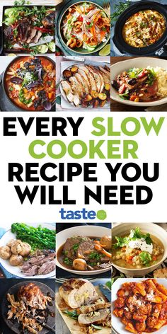 We've got soups and stews, curries and casseroles and even more obscure crockpot creations like desserts, lasagne and pulled pork. This is it: the ultimate round-up of Australia's best slow-cooker dishes. Best Slow Cooker, Crock Pot Slow Cooker, Crock Pot Cooking, Slow Cooker Chicken, Easy Cooking, Slow Cooker Casserole, Slower Cooker, Crock Pots, Slow Cooker Desserts