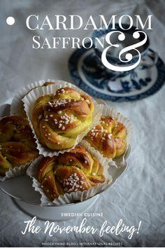 Cardamom and Saffron Buns - Nature Whisper Swedish Cuisine, Almond Paste, Sifted Flour, Golden Syrup, Fresh Pasta, Oven Racks, Tray Bakes, Whisper, Baked Potato