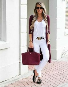Fashion-forward Summer Outfits To Try Now. Fall Winter Outfits, Autumn Winter Fashion, Spring Outfits, Mode Outfits, Casual Outfits, Fashion Outfits, Womens Fashion, Mode Pop, White Jeans Outfit