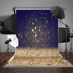 SUSU Glitter Photography Backdrop Yellow and Black Spots Photo Background for Newbron Birthday Backdrop, Birthday Background, Glitter Backdrop, Glitter Photography, Black Spot, Photo Backgrounds, Wall Murals, Backdrops, Dns
