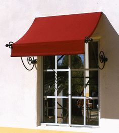 "Shoreline Awning & Patio, Inc. — ""Sorrento"" Scroll Arm Awning Beautiful hand-wrought scrolls and a graceful swag effect combine to make a dramatic statement. Pergola Shade, Diy Pergola, Pergola Kits, Pergola Ideas, Pergola Roof, Cheap Pergola, Awning Over Door, Porch Awning, House Awnings"