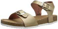 Jumping Jacks Sand Castle Sandal (Toddler/Little Kid), Soft Gold/Metallic, 33 EU(2-2..5 M US Little Kid) *** See this great image  - Girls sandals