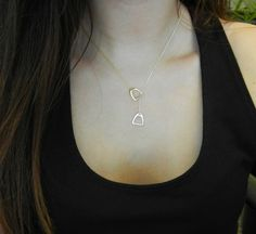 Two-Tone Double Stirrup Necklace now available! Sterling Silver and Gold-Dipped Sterling Silver. SO beautiful!