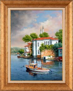 Orijinal tuval üzeri yağlıboya Image Glass, Oil Painting Pictures, Turkish Art, Art Studies, Abstract Photography, Acrylic Art, Mosaic Art, Watercolor Illustration, Landscape Paintings