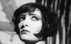 """Siouxsie Sioux on the set of """"The Killing Jar"""" video, September 1988. Photos by Richard Bellia.//Digging the hair cut"""