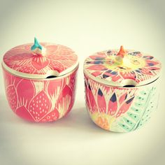 Más azucareros de mundo cacharro #azucareras #sugarbowl #ceramica…