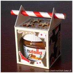 stampin-up mini-nutella straw box 12 - Nutella 2019 Nutella Mini, Stampin Up, Scrapbook Box, Scrapbooking, Creative Workshop, Treat Holder, Diy Box, Christmas Treats, Craft Fairs