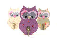 Wooden rack Owl kids room decor Girl nursery hanger by PrettymShop