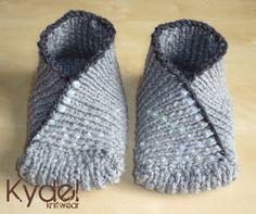 Hand Knit Slippers Socks - Kimono Slipper Socks in Grey, Green - Accessories £18.00