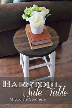 Bourne Southern: Barstool Side Table
