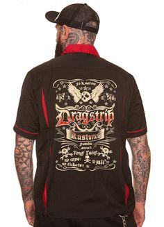 Dragstrip Bowling Shirt hot rod apparel 13 tattoo biker rockabilly shirt Psychobilly Skull and wings Print on Etsy, £29.99
