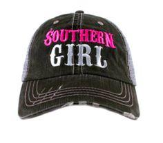 SOUTHERN GIRL MESH TRUCKER BASEBALL CAP HAT Southern Girls b765e2cfd8bf