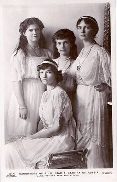 Grand duchesses Marie, Tatiana, Anastasia and Olga.