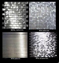 Sleek fusion metals! Available at Mosaic Tile www.mosaictileco.com