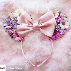 Made-To-Order Tangled Inspired Minnie Mouse ears Floral Minnie Ears Rapunzel Headband Disney Princess Disney Diy, Diy Disney Ears, Disney Mickey Ears, Disney Crafts, Diy Mickey Mouse Ears, Disney Headbands, Ear Headbands, Disneyland Ears, Fleurs Diy