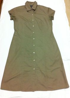 Women's BANANA REPUBLIC CAP SLEEVE SHIRT DRESS BROWN Sz 2 #BananaRepublic #ShirtDress #WeartoWork