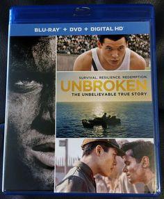UNBROKEN Blu-Ray Disc (2014) • Jack O'Connell • Domhnall Gleeson • Miyavi
