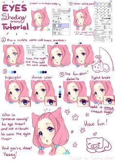 Tutorial - Hyan simple eye shading by Hyan-Doodles