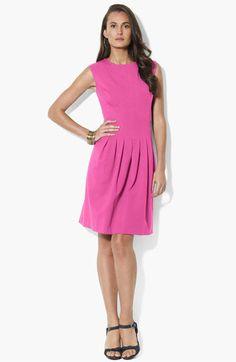 Lauren Ralph Lauren Ponte Knit Fit & Flare Dress available at #Nordstrom
