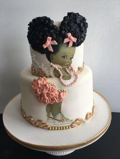 Help me make this Pretty Cakes, Beautiful Cakes, Amazing Cakes, Gold Birthday Cake, Baby Birthday Cakes, Baby Cakes, African Wedding Cakes, Girly Cakes, Baby Shower Princess