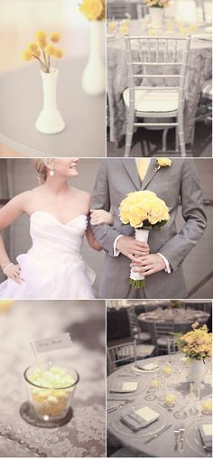 @Phillipa Edmiston Yellow and grey wedding! ^_^