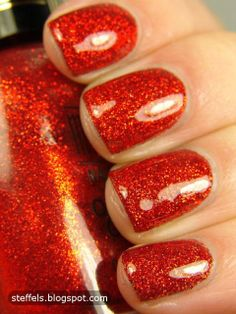 **Milani [One Coat Glitter] - Red Sparkle / Steffels