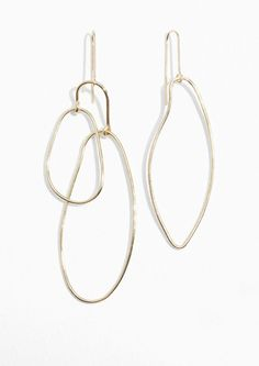 & Other Stories Asymmetrical Earrings in Gold