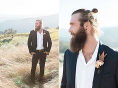 beard + manbun
