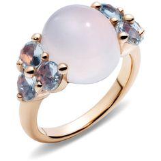 Pomellato Ring Luna ($5,395) ❤ liked on Polyvore featuring jewelry, rings, white, white jewelry, pomellato, white ring, pomellato jewelry and pomellato rings